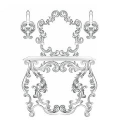Glamorous Fabulous Baroque Rococo Console Table vector image vector image
