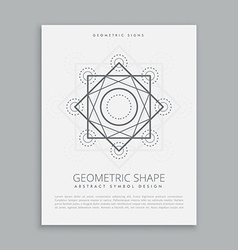 sacred geometric lines shapes vector image vector image
