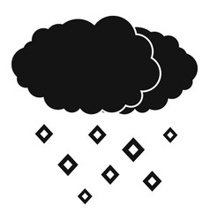 snow cloud icon simple black style vector image vector image