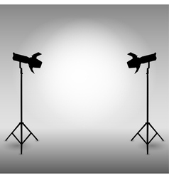 Standing strobe tripods vector image vector image