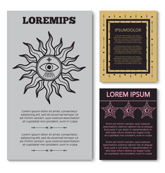 stylish esoteric cards collection with mystery vector image vector image