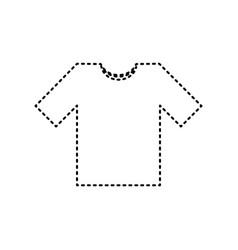t-shirt sign black dashed vector image