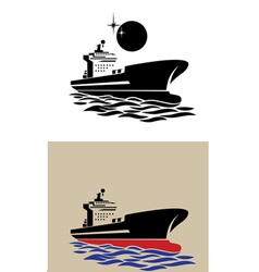 transport ship symbol vector image vector image