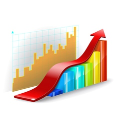 Diagram the arrow and graph vector image vector image