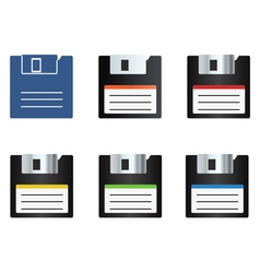 diskette icons set vector image vector image