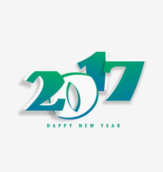 New year holiday card with 2017 text vector