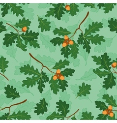 Seamless background with oak branches vector image