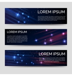 Space horizontal banners template vector image vector image