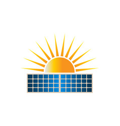 sun solar dual panel logo clipart vector image