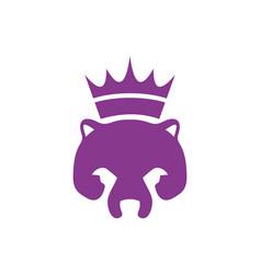 abstract king bear logo icon vector image