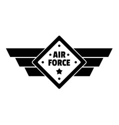 Air best force logo simple style vector