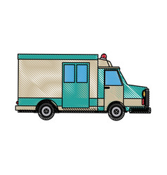 ambulance car auto paramedic emergency vehicle vector image