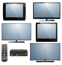 analog and digital televisions vector image