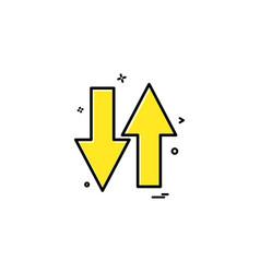 Arrow one way road sign icon design vector
