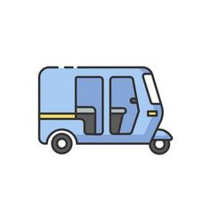 Auto rickshaw rgb color icon vector