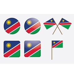 badges with flag of Namibia vector image