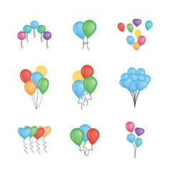 Balloons collection isolated on white background vector image