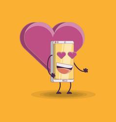 cartoon smartphones design vector image