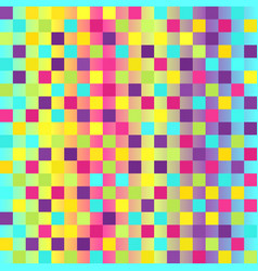 Checkered pattern glowing multicolor seamless vector