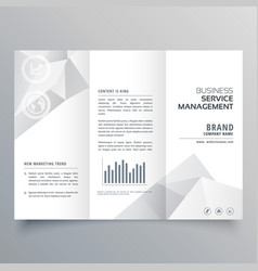 clean white trifold brochure design with abstract vector image