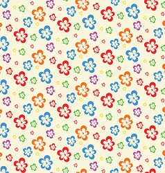 Colorful abstract flowers lite seamless pattern vector