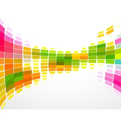colorful mosaic wave vector image