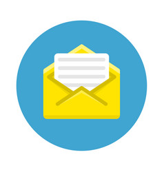 concept email notification icon vector image
