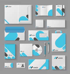 Corporate brand identity business stationery vector
