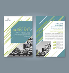 Cover annual report 933 vector