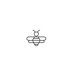 creative bee insect abstract logo vector image