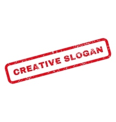 Creative slogan text rubber stamp vector