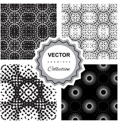Ddoodle abstract seamless pattern collection vector image