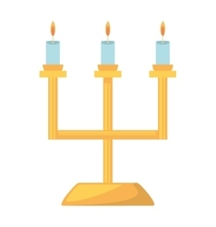 Decorative celier golden candles wedding vector