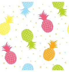 Fresh pineapples colorful seamless texture pattern vector image