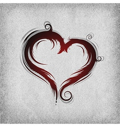 Heart baroque red background vector