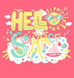 hello tropical summer vector image