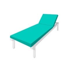 Hospital bed cartoon icon vector
