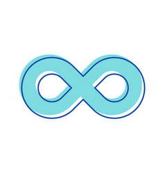 infinity symbol curve contour in shape eight vector image