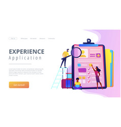 Job interview concept landing page vector