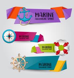 marine nautical travel concept horizontal banner vector image