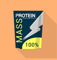 mass protein icon flat style vector image
