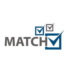 Match checklist vector
