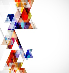 Modern colorful geometric abstract template vector