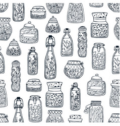 Monochrome seamless pattern with homemade vector