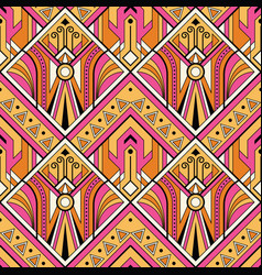 multicolor tribal seamless pattern vector image