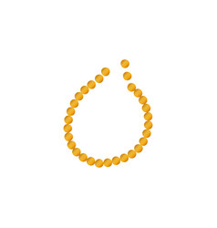 necklace icon isolated in white background vector image