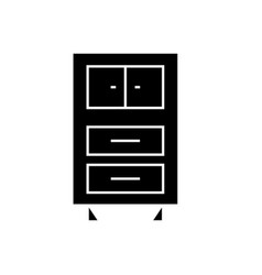 office cupboards black concept icon offic vector image