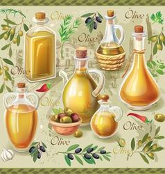 Olive set vector