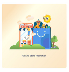 online store promotion vector image