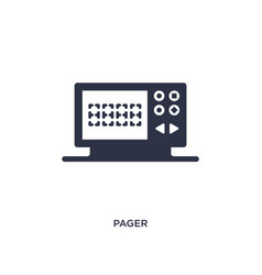 Pager icon on white background simple element vector